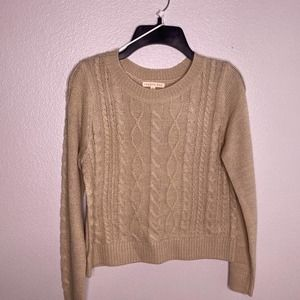 Copper Key Beige Cable Knit Sweater Medium Large